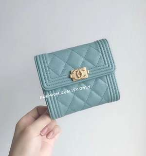Chanel Boy Caviar Wallet