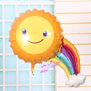 Mini Rainbow Sun foil balloon