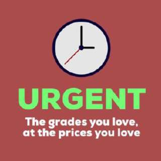 URGENT AND RUSHED Assignment Ghostwriting Services