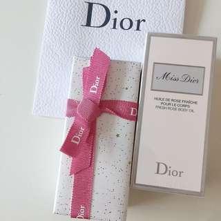 🚚 全新/Dior Miss Dior花漾迪奧美體滋潤精油100ml Body Oil 附專櫃提袋