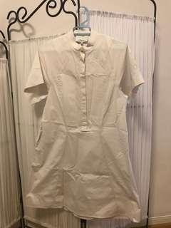 Philip lim white shirt dress