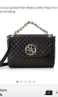 GUESS G Lux quilted flap bag with chain