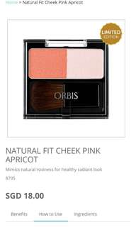 Natural Fit Cheek Pink Apricot blusher from Orbis