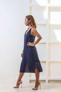 Wear Anika Felicity Dress in Navy Stripe