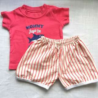 Carter's Baby Boys' Shirt and Shorts (3 mos)