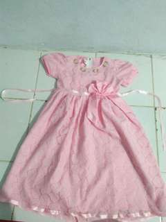Dress Anak Perempuan - Pink Soft (Fit to XL)