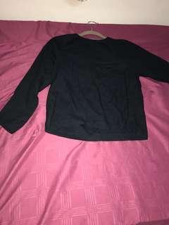 Uniqlo Hana tajima navy blouse