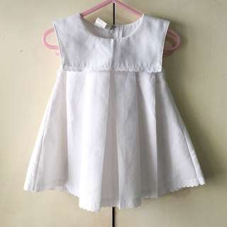 St Patrick Babies' White Dress (3-6 mos)