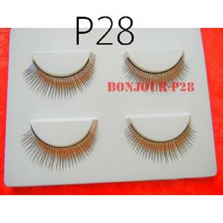#P28 : False Eyelash : Eyes : Lash : Lashes : Eyeslash : Eyeslashes : Eyelashes : Falsies : Face : Facial : Makeup : Cosmetics : Beauty : Tools : Ladies : Girls : Women : Female : Lady : Sellzabo : Black Colour