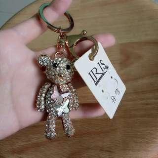 Brand New Popobe Bearbrick Crystal Keychain