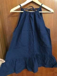 New Asos maternity navy top 大肚婆孕婦 藍色背心上衣