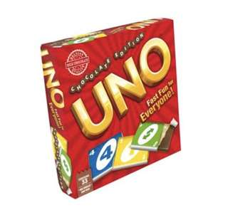 Uno Card Chocolate Edition