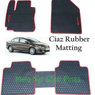 Premium Rubber Matting for Suzuki Ciaz (Red Lining)