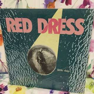 Vinyl Lp- red dress - grunge era