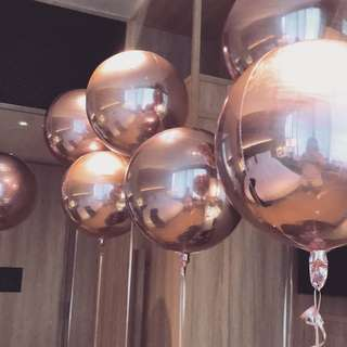 Helium rose gold round foil Balloon