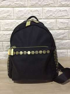 Nylon/Leather Mini Backpack