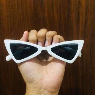Triangle Sunglasses White