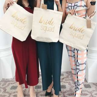 Bridesmaid Canvas Tote Bag Bridesquad