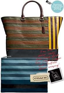 Coach Bleecker stripe bag