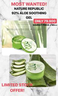 NATURE REPUBLIC ALOE 92% SOOTHING GEL