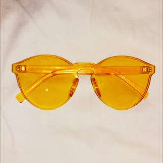 yellow candy round sunglasses