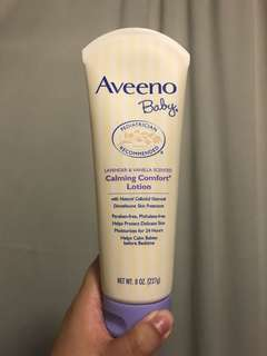 Aveeno Baby lotion (lavender & vanilla scent)