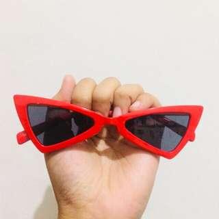 Triangle Sunglasses Red