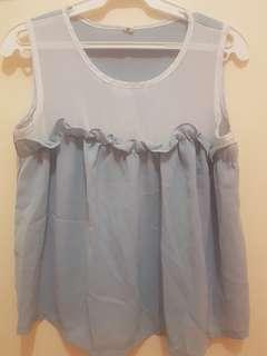 Kawaii pastel blue top