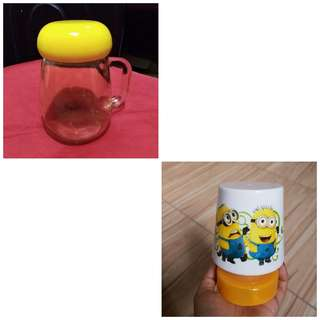 Yellow small jar mug & lump shade