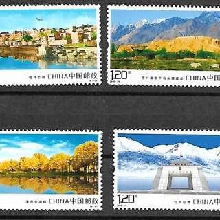 2018-14《喀什風光》郵票 套票(其中一枚缺角)