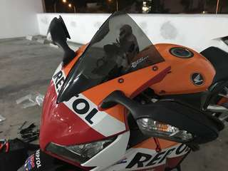 Honda Cbr1000rr, Zero Gravity Smoke Corsa Windshield