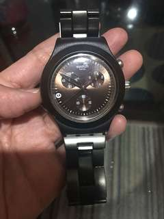 Swatch dark chocolate color