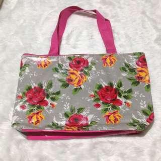 Pink Floral Bag Waterproof
