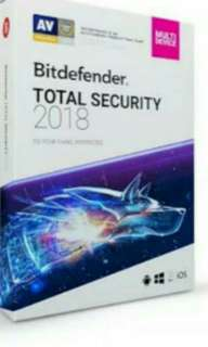 Bitdefender TOTAL SECURITY 2018 (1 Year 3 Devices)