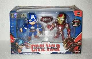 Marvel Civil War Captain America 2 Pack