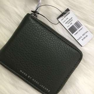 Marc By Marc Jacobs Green Leather Zip Around Wallet BNWT $158