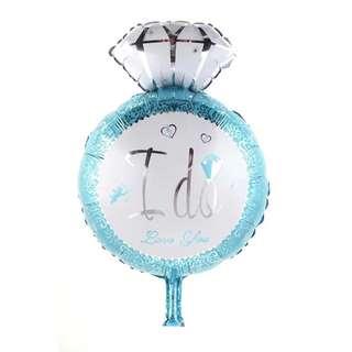 """""""I Do"""" ring good material foil balloon"""