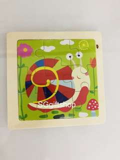 🐌 snail wooden puzzle- children party goodies bag, goody bag gift