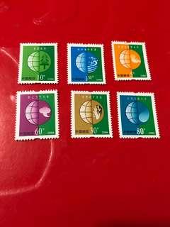 中國郵票-普票6枚