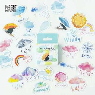 🚚 [BUY 3 FREE 1] 46 Piece weather sticker pack