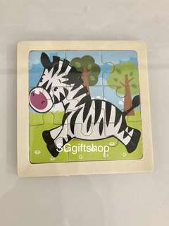 Animal kingdom theme (zebra) wooden puzzle- goodies bag gift, goodie bag for children party celebration 🎉
