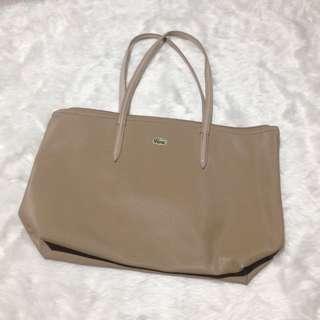 Khaki Lacoste Bag High Class Quality