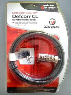 Targus Cable Lock for Laptop