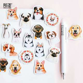 🚚 [BUY 3 FREE 1] 46 Piece dog sticker pack