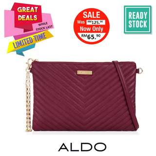ALDO QUILTED 2-WAYS BAG (BURGUNDY) *CLEARANCE (AL026SD)