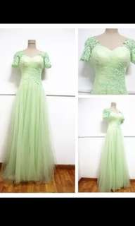 GREEN wedding gown dinner dress (S to M)