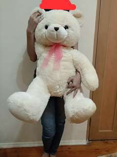 Boneka jumbo teddy bear white LIKE NEW
