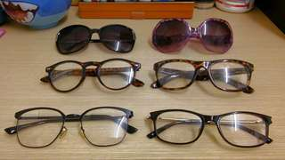 眼鏡 平光鏡 太陽眼鏡 Glasses Sunglasses