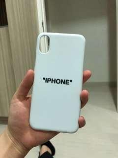 "Case iPhone X ""iPhone"" Logo OFF-WHITE"