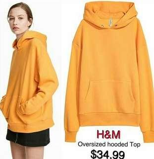 H&M Hoodie Yellow